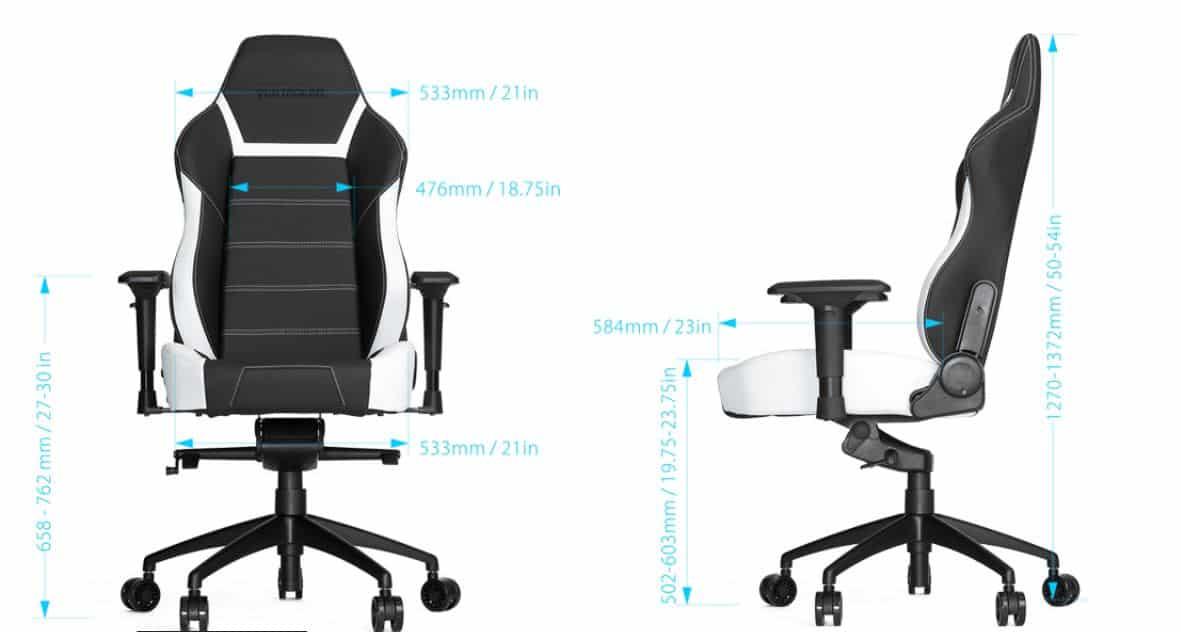 chaise vertagear PL 6000 dimensions