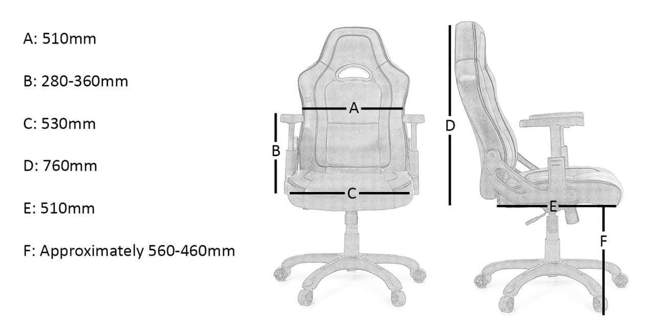 mesures fauteuil arozzi mugello