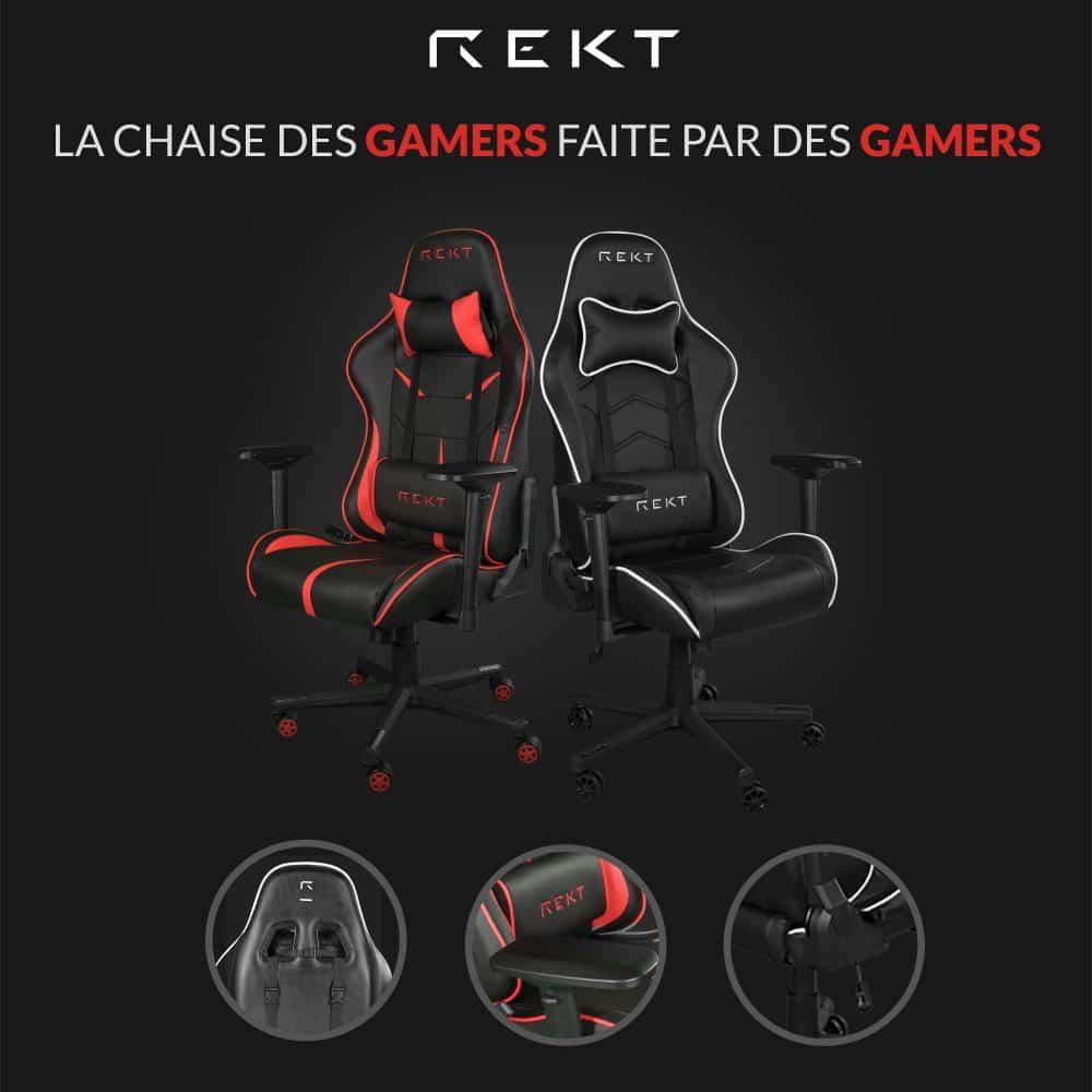chaises gamer rekt